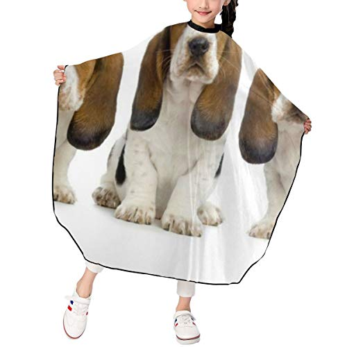 Three Basset Hound Hipster Haircut Salon Hairdressing Cape for Kids Child Styling Waterproof Shampoo & Cutting Household Capes