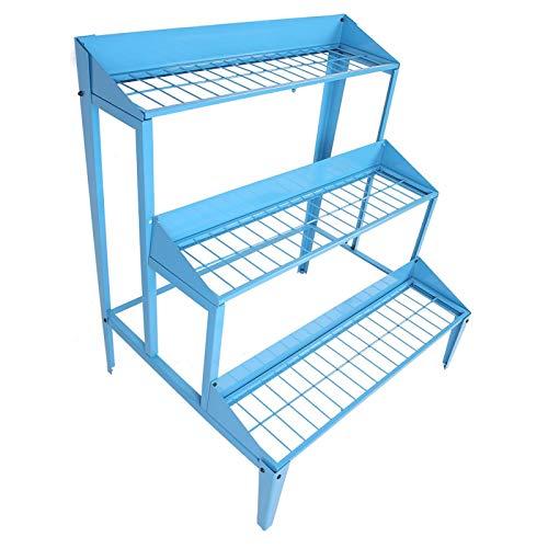 Estantería de escalera con 3 estantes, jardinera a escalera