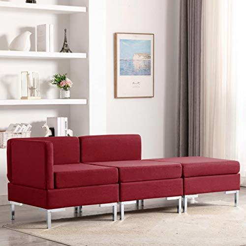 N / A vidaXL Moderner 3-TLG Sofagarnitur mit Sitzkissen, Lounge Sofa, Polstersofa, Wohnzimmer Liege Lesestuhl Lazy air Sofa, Modulares Sofa, Wohnlandschaft, 195 x 65 x 65 cm
