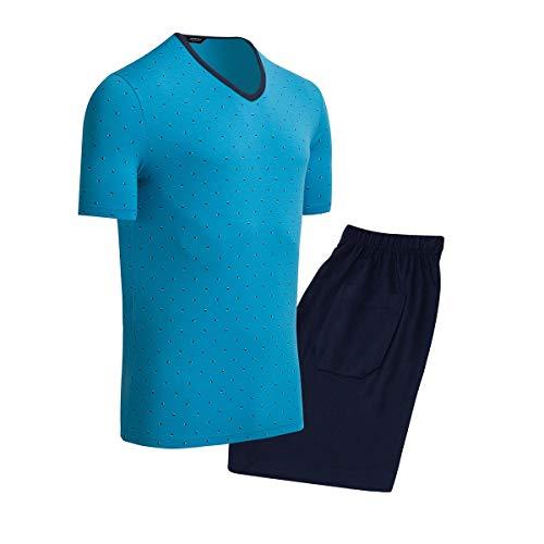 Impetus Schlafanzug, Modal & Cotton Gr. XXL, blau