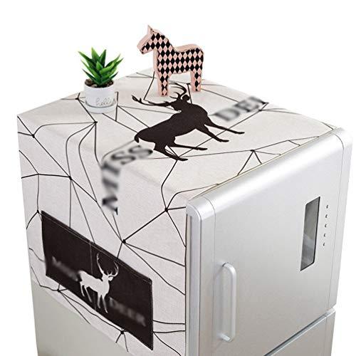 Mengmiao Küche Wohnzimmer Kühlschrankabdeckung Staub Dekoration Multifunktionale Waschmaschine Top Abdeckung Staubschutz Tuch die Tasche (Stil28, 140 * 55 cm(Eintüriger Kühlschrank))