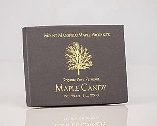 Mansfield Maple- Half Pound (8oz) Certified Organic Pure Vermont Maple Sugar Candy (24 Candies)