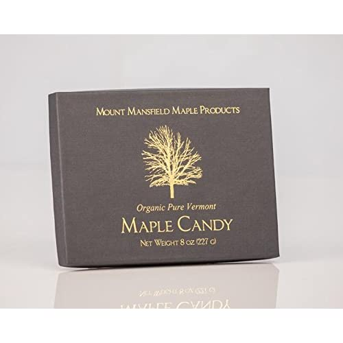Mount Mansfield Maple Certified Organic Pure Vermont Maple Candy (Half Pound)