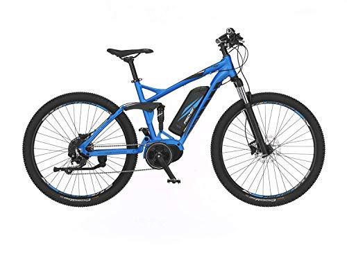 FISCHER E-Mountainbike EM 1862.1, E-Bike MTB, blau matt, 27,5 Zoll, RH 48 cm, Mittelmotor 80 Nm, 48 V Akku