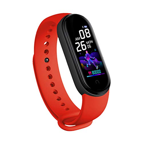 jiheousty M5 Smart Watch Hombres Mujeres Monitor de Ritmo cardíaco Presión Arterial Rastreador de Ejercicios
