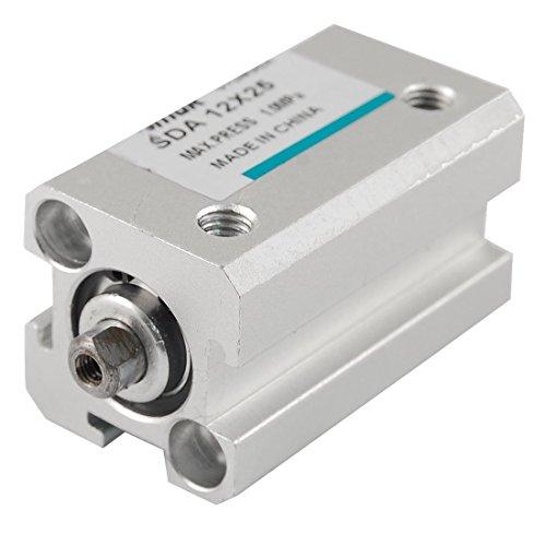 DealMux Cilindro neumático de aire fino de doble acción de 12 mm x 25 mm SDA 12-25