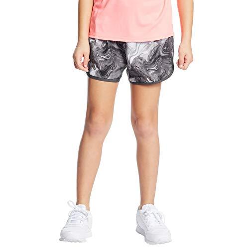 C9 Champion Girls' 2' Woven Running Shorts, Multi Marble Gray, L