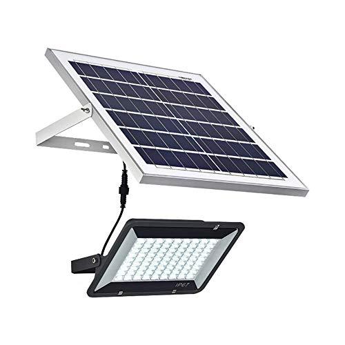 LLLKKK Foco solar para exteriores con mando a distancia, luces LED solares de seguridad para el atardecer hasta el amanecer, mando a distancia, impermeable IP66, 60 W