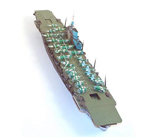 Jzx-n - Puzzle de juguete (escala 1/400, escala británica, HMS Victorious Illustrious Class de avión, juguete y regalos, 60 cm)