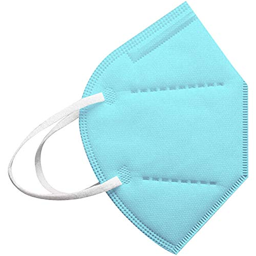 JIEYONG 20/25/50/100 stück kinder 5-lagig,face shield für children, farbe einfarbig, atmungsaktiv fashion outdoor elastic ear loop face bandanas cover wiederverwendbar
