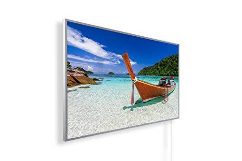 Könighaus 1000W Bildheizung (Infrarotheizung mit hochauflösendem Motiv) (1000W-tropical Island Thailand) - inkl. Thermostat