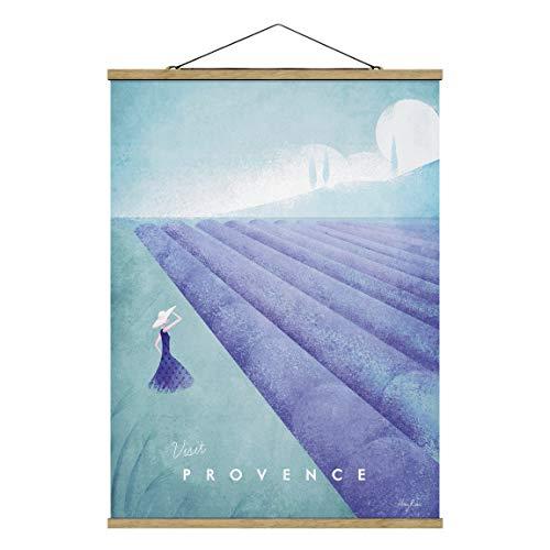 Bilderwelten Imagen de Tela - Travel Poster - Provence, 133.5cm x 100cm, Roble