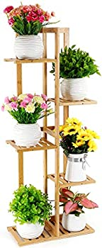 Foldify Bamboo Indoor & Outdoor Multiple Flower Pot Holder Shelf Rack Unit