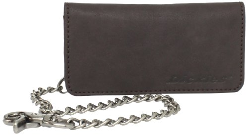 Dickies Men's Bifold Chain Wallet-High Security with ID Window and Credit Card Pockets, Brown Tucker, One Size