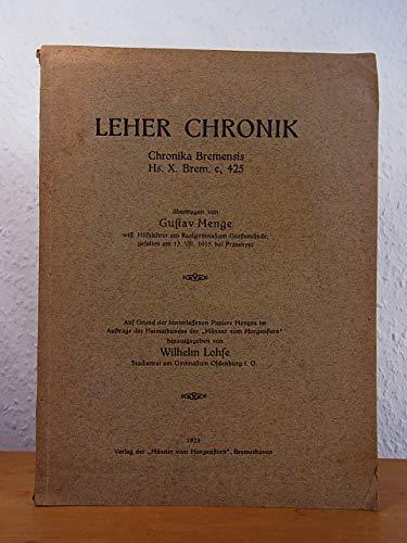 Leher Chronik. Chronika Bremensis Hs. X. Brem. c, 425