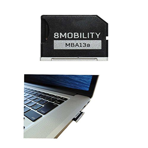 """8MOBILITY iSlice Micro SD Card Adapter Compatibe with MacBook Air 13"""" A1466 (Early 2015-2017) and MacBook Pro 13"""" A1278 Unibody"""