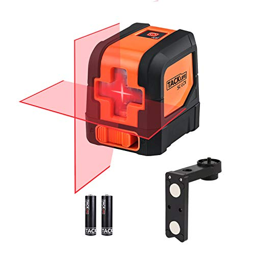 Tacklife SC-L01-50 Feet Laser Level Self-Leveling Horizontal and...