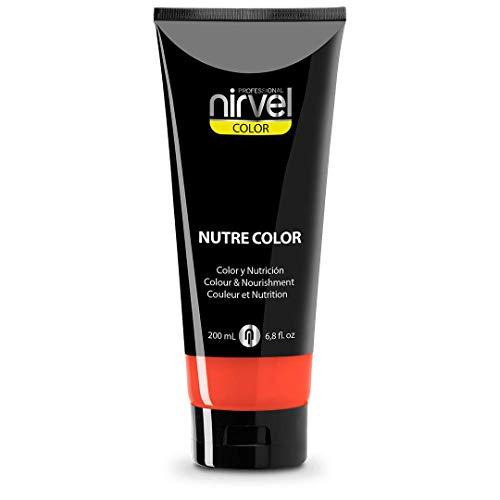 Nirvel NUTRE COLOR FLUOR Coral 200 mL Mascarilla Profesional - Coloración temporal - Nutrición y brillo
