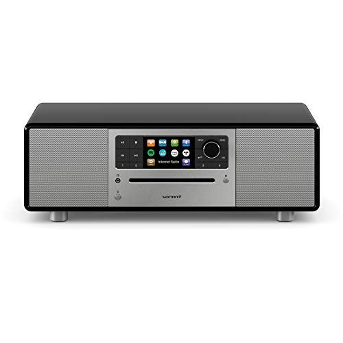 sonoro Prestige Kompaktanlage mit CD-Player, Bluetooth und Internetradio (UKW/FM, WLAN, DAB Plus, Spotify, Amazon, Deezer, Tidal, USB) Schwarz 2020