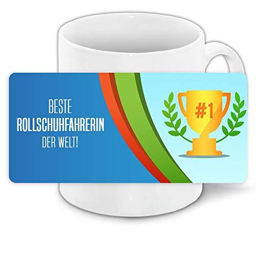 Tasse mit Namen Beste Rollschuhfahrerin der Welt   Keramik-Tasse   Kinder-Tasse