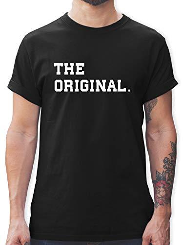 Partner-Look Familie Papa - The Original The Remix Eltern - XL - Schwarz - grün Tshirt Herren lustig - L190 - Tshirt Herren und Männer T-Shirts