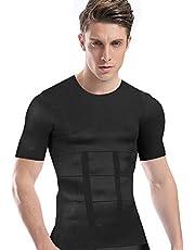加圧シャツ メンズ 加圧インナー コンプレッションウェア ダイエット 加圧式脂肪燃焼Tシャツ 半袖 スポーツウェア 補正下着 姿勢矯正 (M, ホワイト)