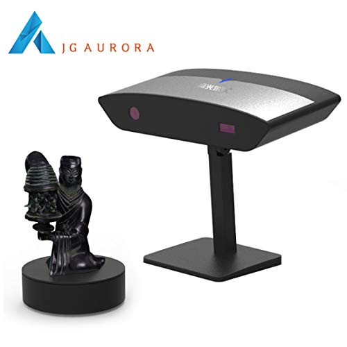 Scanner 3D de bureau de lumière blanche, précision de 0.05 mm, gamme de mesure 350 × 350 × 350mm, fonction de couture entièrement automatique, pour la numérisation de métal noir, objets réfléchissants