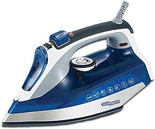 Super General Steam Iron, 2200 watts power, Ceramic-base, Anti-drip, Self-Clean, Blue/White, 15.6 x 34.6 x 16.2 cm, SGI-7...