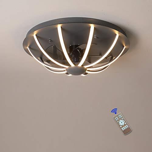 Ventilador de techo,ventilador techo con luz,con Mando a distancia, lamparas ventilador de techo modernos aspas plegables, Reversibles,Silencioso,3 Velocidades,Temporizador,60cm,120W ventilador techo