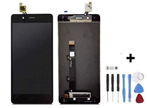 Theoutlettablet® - Pantalla LCD Completa LCD capacitiva con tactil digitalizador para Bq Aquaris X5 Plus + Herramientas - Color Negro