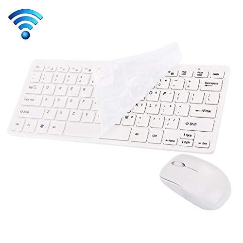 Draadloos toetsenbord JK-903 2,4 GHz Wireless 78 Keys Mini-toetsenbord met Toetsenbord Cover + Draadloze Optische Muis met Ingebouwde USB-ontvanger voor Computer PC Laptop(Zwart) ZHUHX ZHUHX (Kleur : Wit)