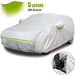 【UNIVERSAL FIT】- Favoto all season full car cover is suitable for 157 inches to 171 inches (4 to 4.35m) in length hatchbacks. Package includes a storage bag; you can easily fold the cover and carry with you in the trunk. 【DRIVER SIDE ZIPPER DESIGN】- ...