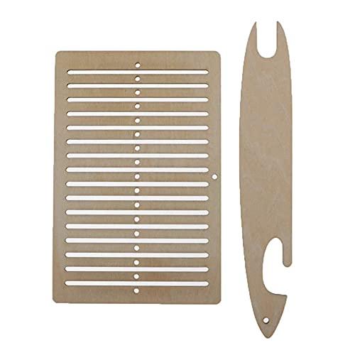 Winwinfly 2セット木製織り機キットDIY多機能織りタペストリーテーブルラボ織機