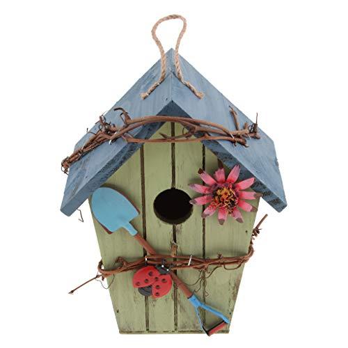 F Fityle Vinatge Nisthöhle Vogelnistkasten Vogelhaus/Vogelhäuschen für Kleinvögel Rotschwänzchen/Rotschwanz, super Villa für Kleinsingvögel - D#