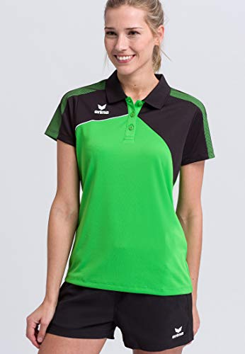 Erima Dames Premium One 2.0 Polo-Shirt, Nieuw Royal/Zwart/Wit/Blck