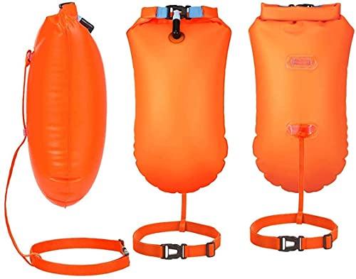 Youool Boya De Natación Swim Buoy Estanca Bolsa Seca Dry Bag Inflable al Nadar en el mar y en el Lago para Kayak