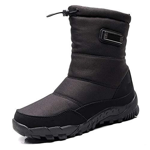 KKCD-slipper Mannen Winter Sneeuwlaarzen, Waterdichte Winter Laarzen met Bont Voering Antislip Outdoor Schoenen voor Mannen Wandelen Schoenen