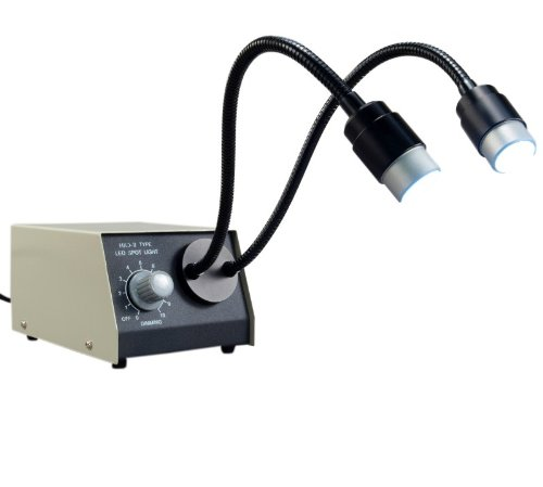 OMAX 2 Watt Bright LED Dual Goose-Neck Illuminator