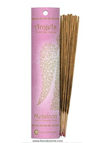 Metatron, Incensi degli Angeli 10 Sticks, Colore Viola - 100% Natural Products - Fiore D'Oriente