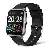 Judneer Smartwatch, Orologio Fitness con 1.4 Pollici Touchscreen a Colori Smart Watch, Contapassi Cardiofrequenzimetro Smartband Notifiche Messaggi, Sportivo Activity Tracker Cronometro per Uomo Donna