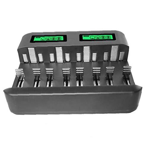Cargador de batería Pantalla LCD Inteligente cargador universal para baterías recargables