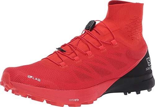 SALOMON Unisex-Erwachsene Shoes S/lab Sense Laufschuhe, Mehrfarbig (Racing Rot/Schwarz/Weiß), 44 EU