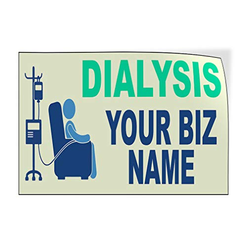 Custom Door Decals Vinyl Stickers Multiple Sizes Dialysis Business Name Health Care Dialysis Outdoor Luggage /& Bumper Stickers for Cars White 58X38Inches Set of 2