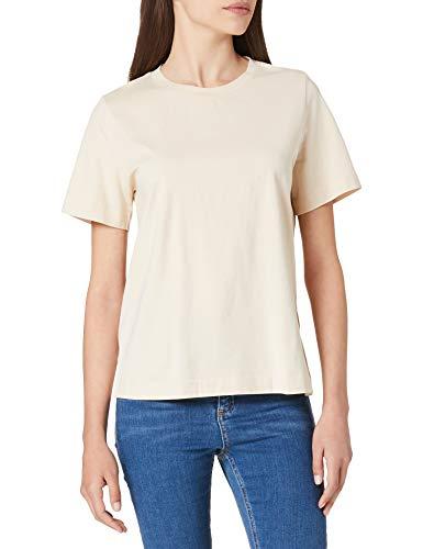 ESPRIT Collection Damen 011EO1K314 T-Shirt, 295/CREAM BEIGE, S