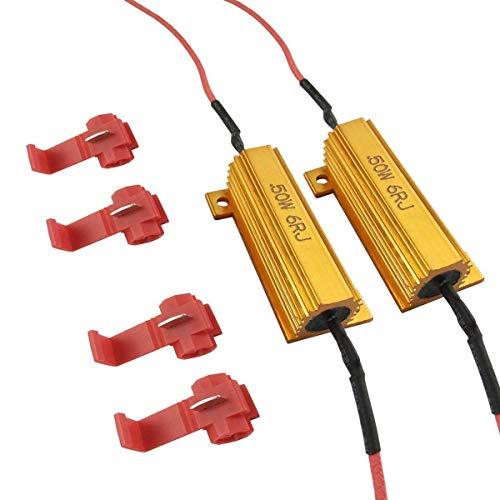iBrightstar 50W 6ohm Load Resistors for Fix LED Bulb Fast Hyper Flash Turn Signal Blink Error Code