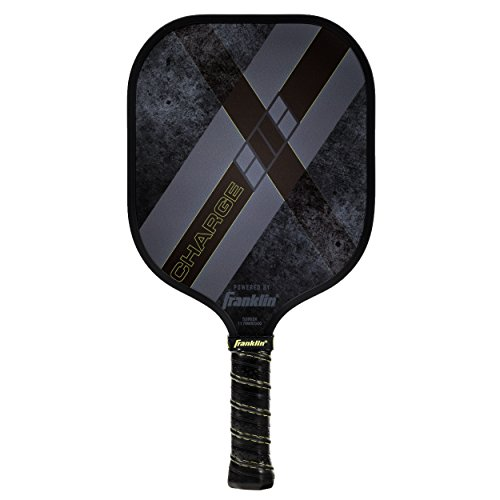 Franklin Sports Pickleball Paddle - PMI Core X-Charge Pickleball Racket - Gray - USA Pickleball (USAPA) Approved