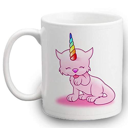 Maureen52Dorothy Caticorn Tasse – Einhorn Katze 325 ml