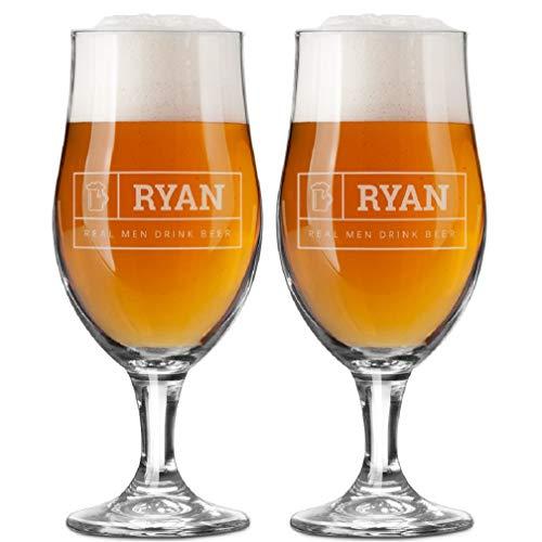YourSurprise Vasos de Cerveza Personalizada - Vasos de Cerveza con Nombre Grabado:...