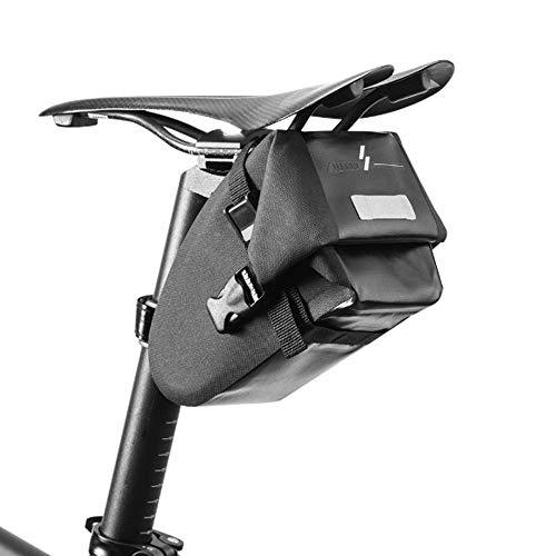 WYY Bolsa De Sillín Bicicleta, Bolsa Cuadro Bicicleta Impermeable Bolsa Herramientas Bicicleta para Bicicletas Montaña Bicicletas Carrera - Negro, 6.49 X 3.34 X 4.13 In