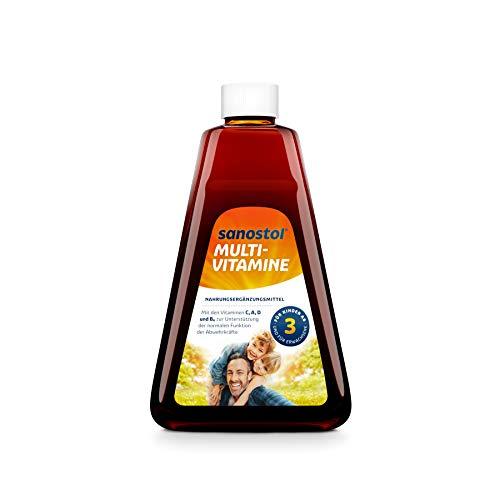 2 X Sanostol Multi-Vitamine: Für Kinder ab 3 Jahren und Erwachsene, unterstützt ein gesundes Immunsystem mit den Vitaminen A und D, 2x460ml
